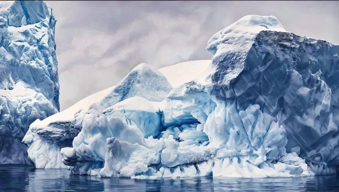 俘获了上千万粉丝的心 她用手指画出震撼的冰山插图1