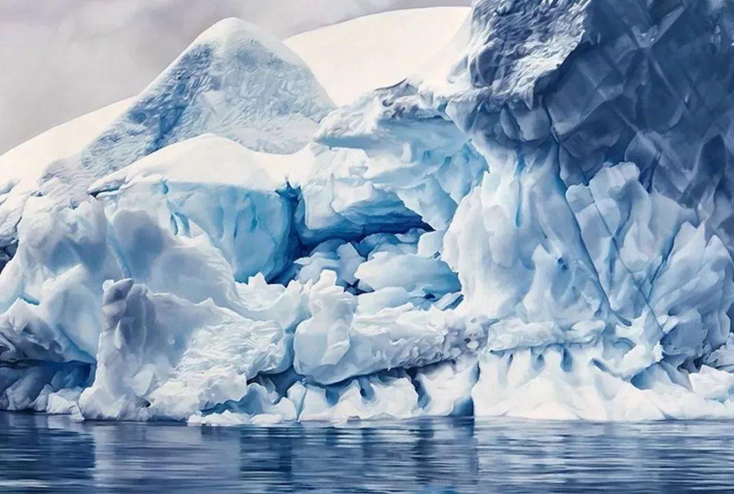 俘获了上千万粉丝的心 她用手指画出震撼的冰山插图3