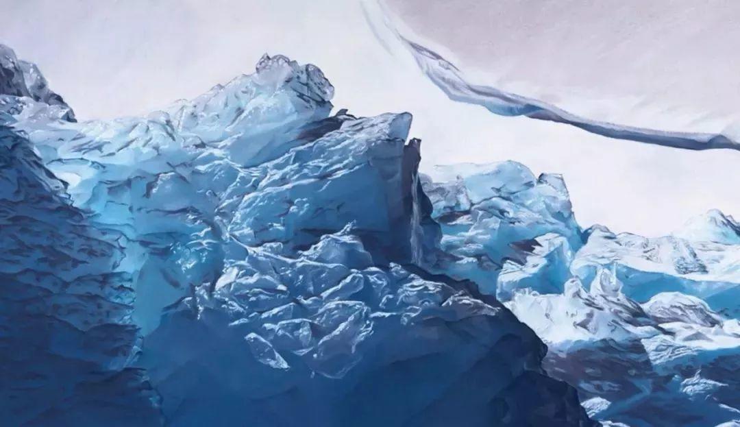 俘获了上千万粉丝的心 她用手指画出震撼的冰山插图5