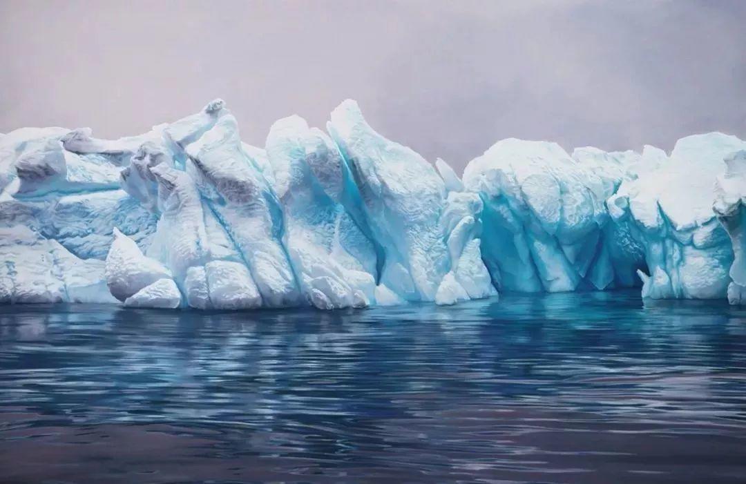俘获了上千万粉丝的心 她用手指画出震撼的冰山插图21
