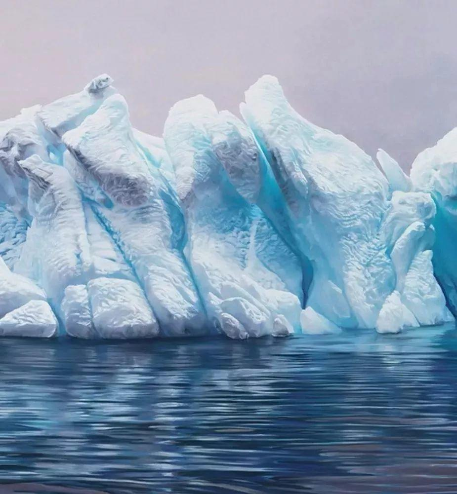 俘获了上千万粉丝的心 她用手指画出震撼的冰山插图23
