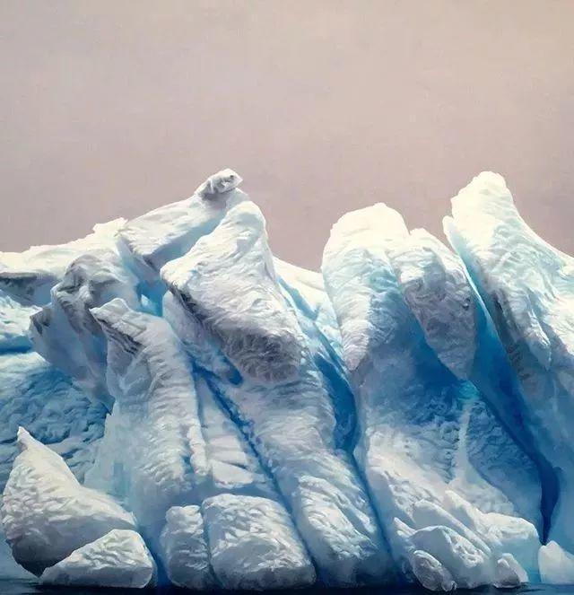 俘获了上千万粉丝的心 她用手指画出震撼的冰山插图25