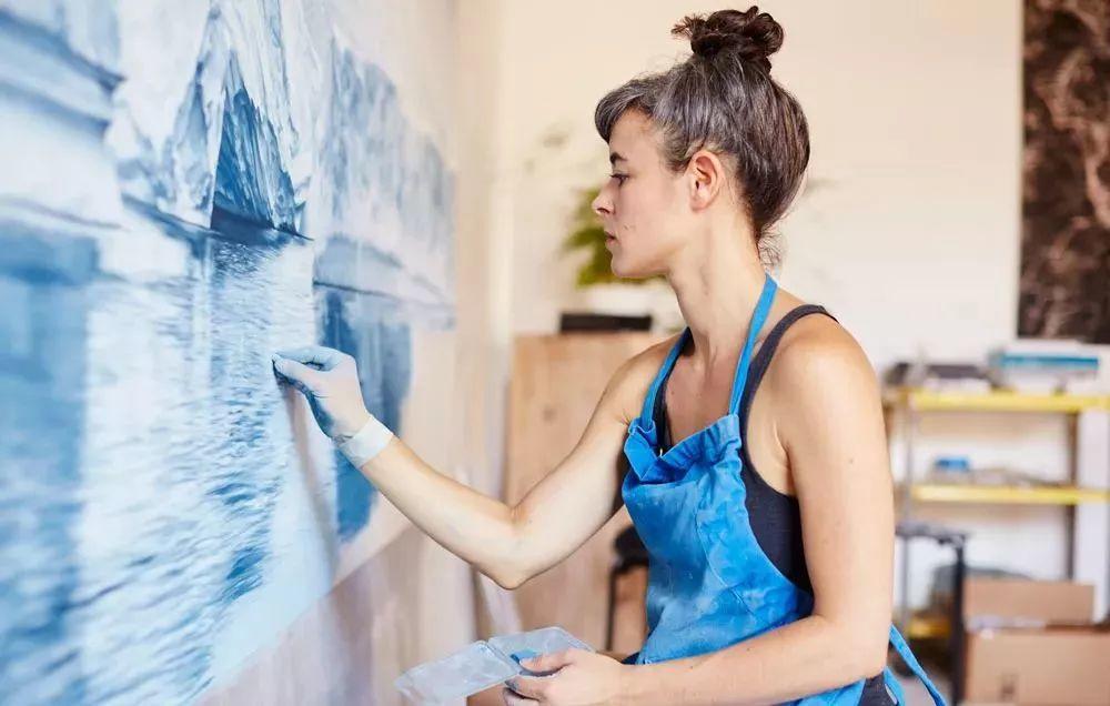 俘获了上千万粉丝的心 她用手指画出震撼的冰山插图37