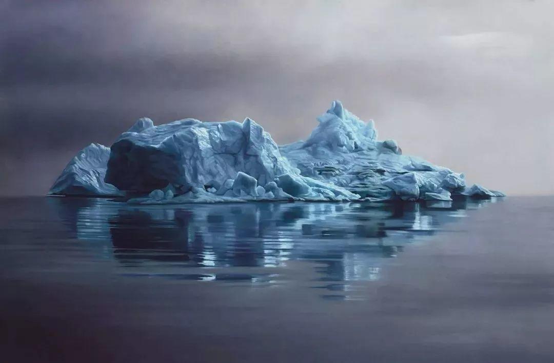 俘获了上千万粉丝的心 她用手指画出震撼的冰山插图39