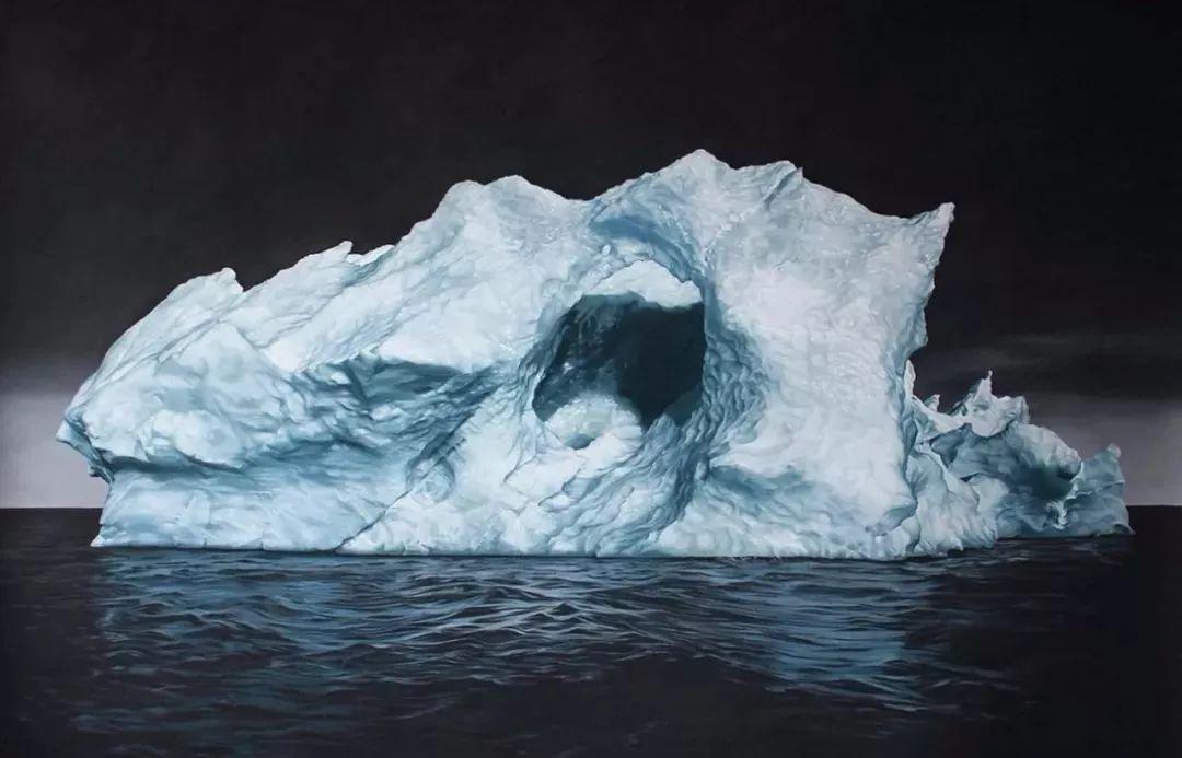 俘获了上千万粉丝的心 她用手指画出震撼的冰山插图41