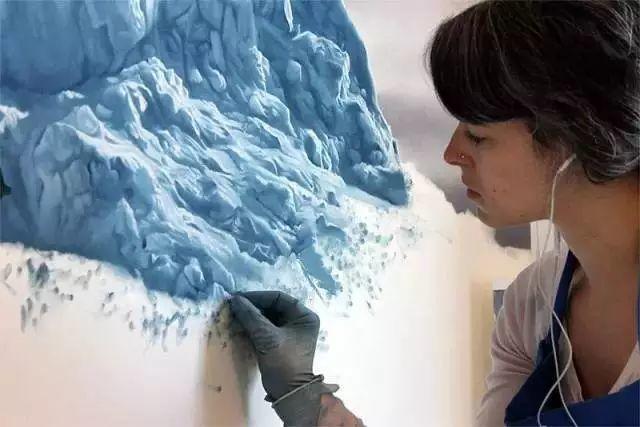 俘获了上千万粉丝的心 她用手指画出震撼的冰山插图53