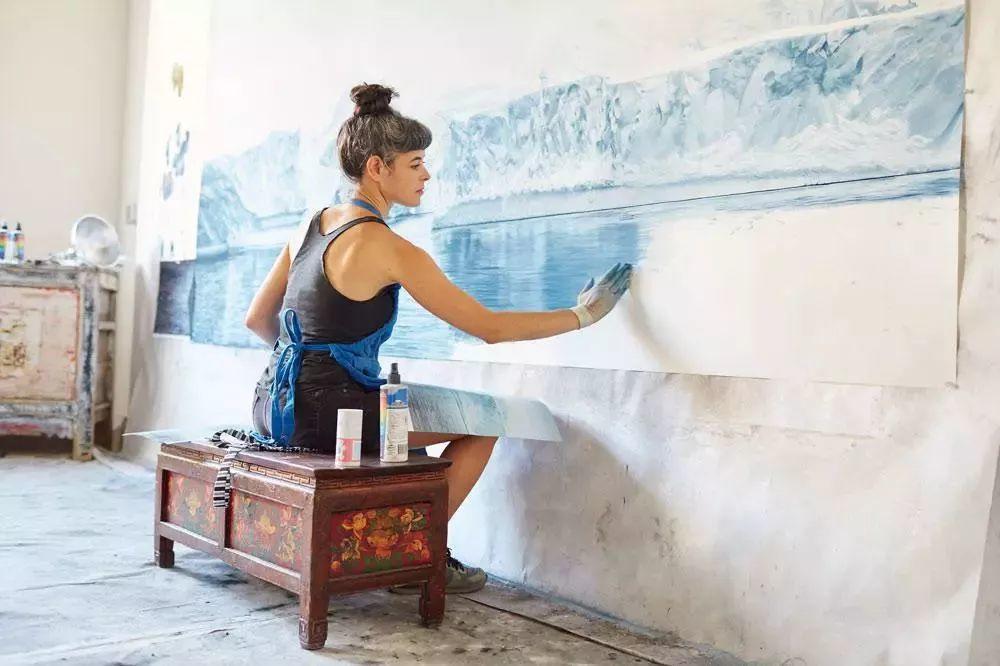 俘获了上千万粉丝的心 她用手指画出震撼的冰山插图55