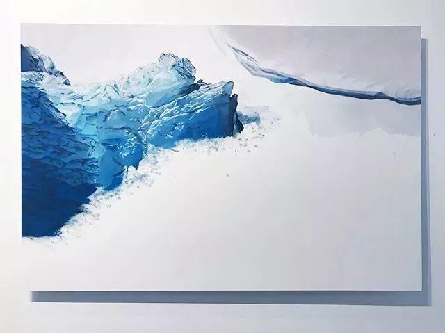 俘获了上千万粉丝的心 她用手指画出震撼的冰山插图57