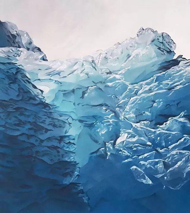 俘获了上千万粉丝的心 她用手指画出震撼的冰山插图59