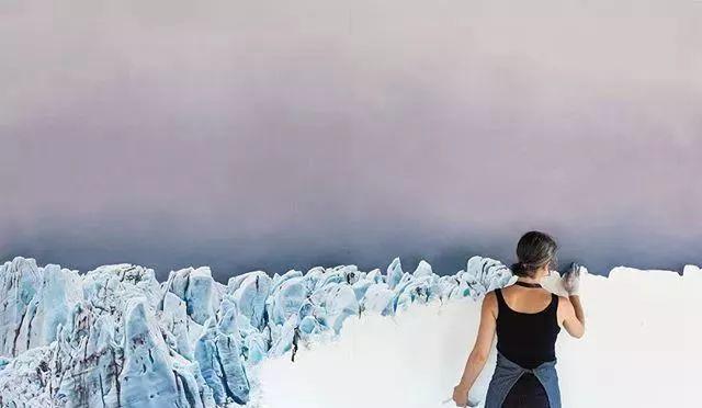 俘获了上千万粉丝的心 她用手指画出震撼的冰山插图61