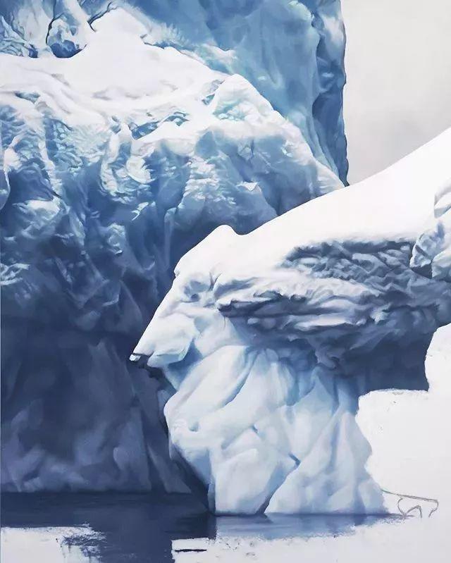 俘获了上千万粉丝的心 她用手指画出震撼的冰山插图65