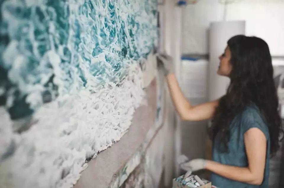 俘获了上千万粉丝的心 她用手指画出震撼的冰山插图67