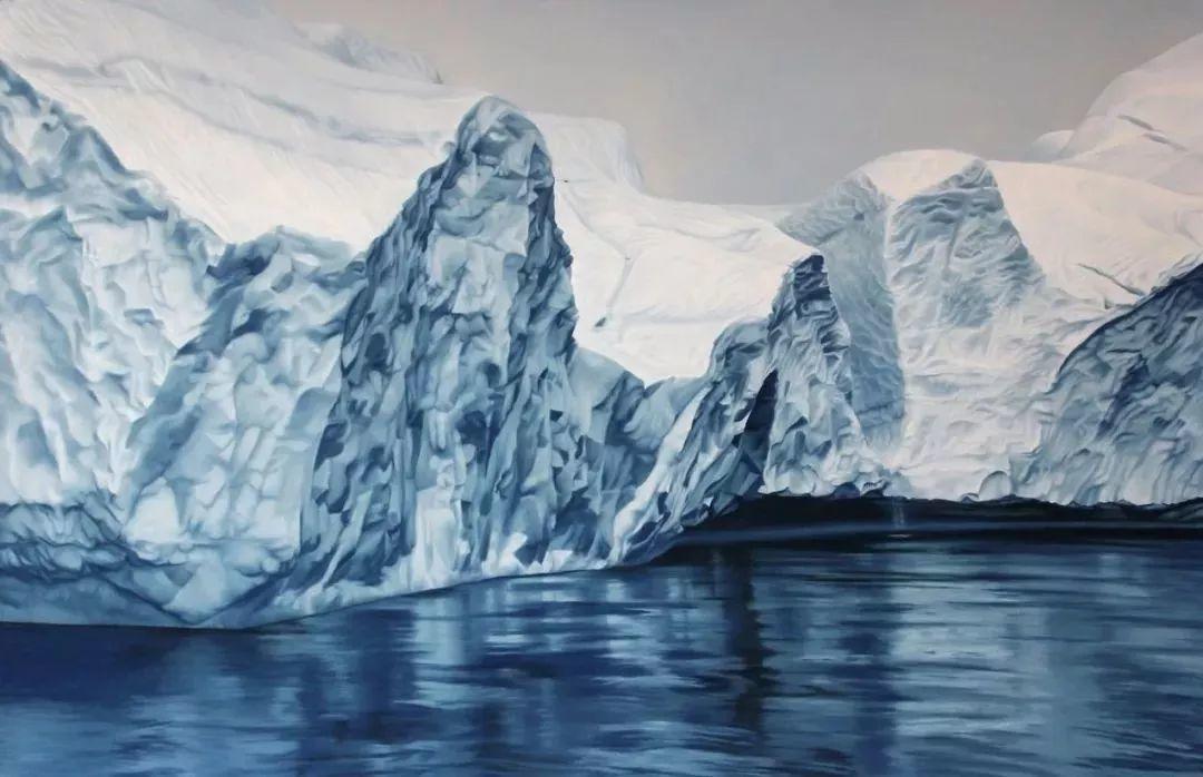 俘获了上千万粉丝的心 她用手指画出震撼的冰山插图69