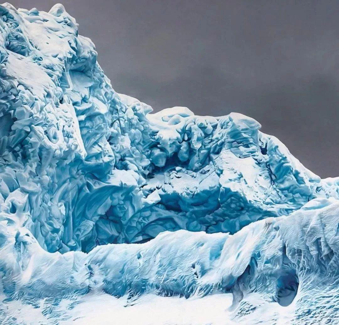 俘获了上千万粉丝的心 她用手指画出震撼的冰山插图71