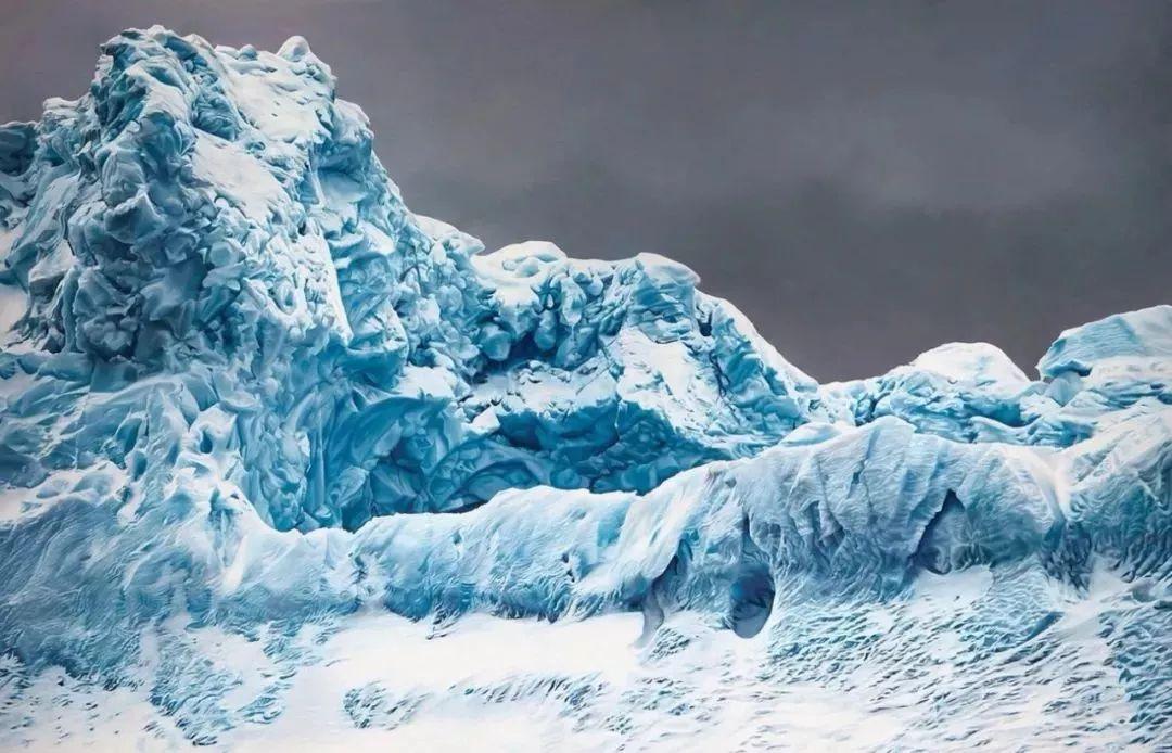 俘获了上千万粉丝的心 她用手指画出震撼的冰山插图73