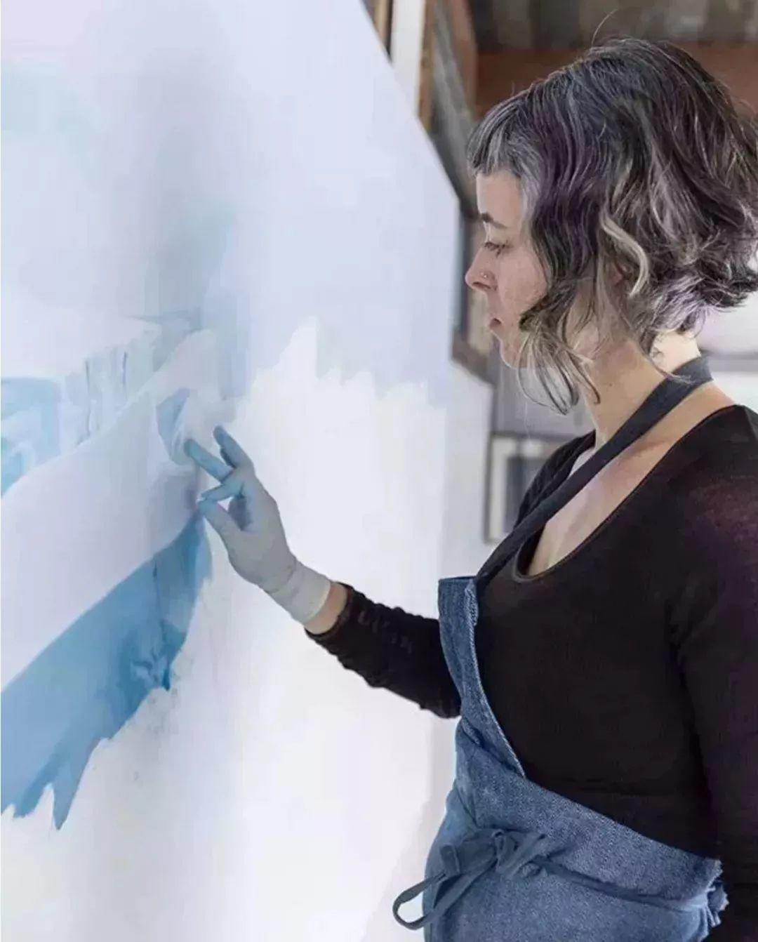 俘获了上千万粉丝的心 她用手指画出震撼的冰山插图75