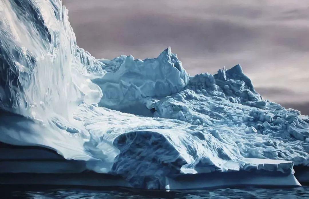 俘获了上千万粉丝的心 她用手指画出震撼的冰山插图77