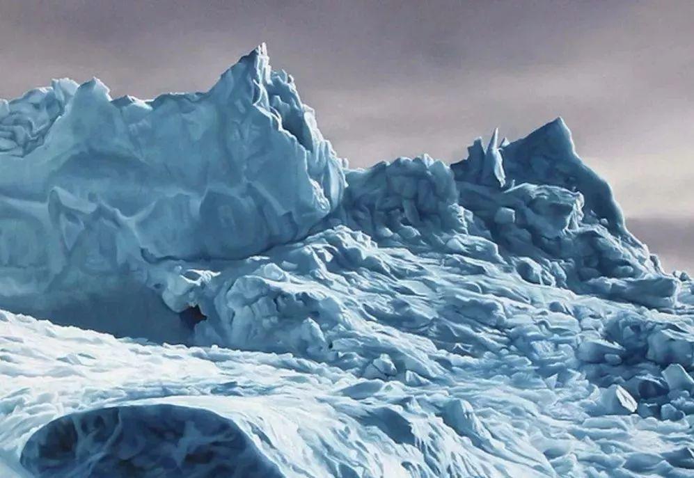 俘获了上千万粉丝的心 她用手指画出震撼的冰山插图79