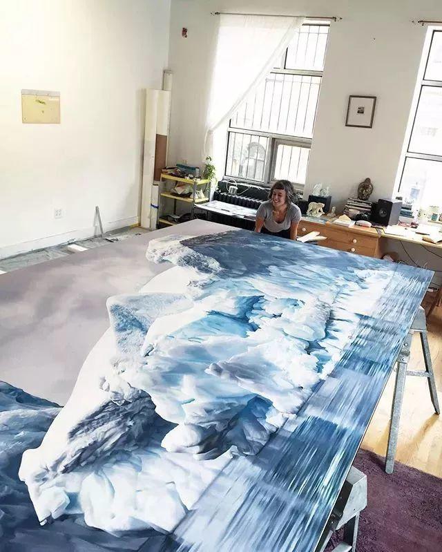 俘获了上千万粉丝的心 她用手指画出震撼的冰山插图83