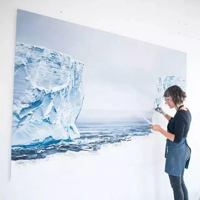 俘获了上千万粉丝的心 她用手指画出震撼的冰山插图85