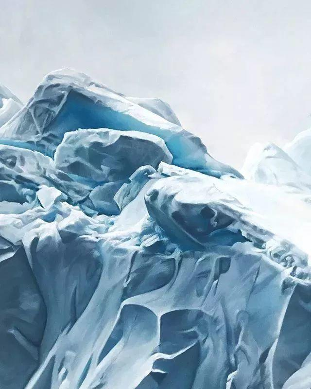 俘获了上千万粉丝的心 她用手指画出震撼的冰山插图87