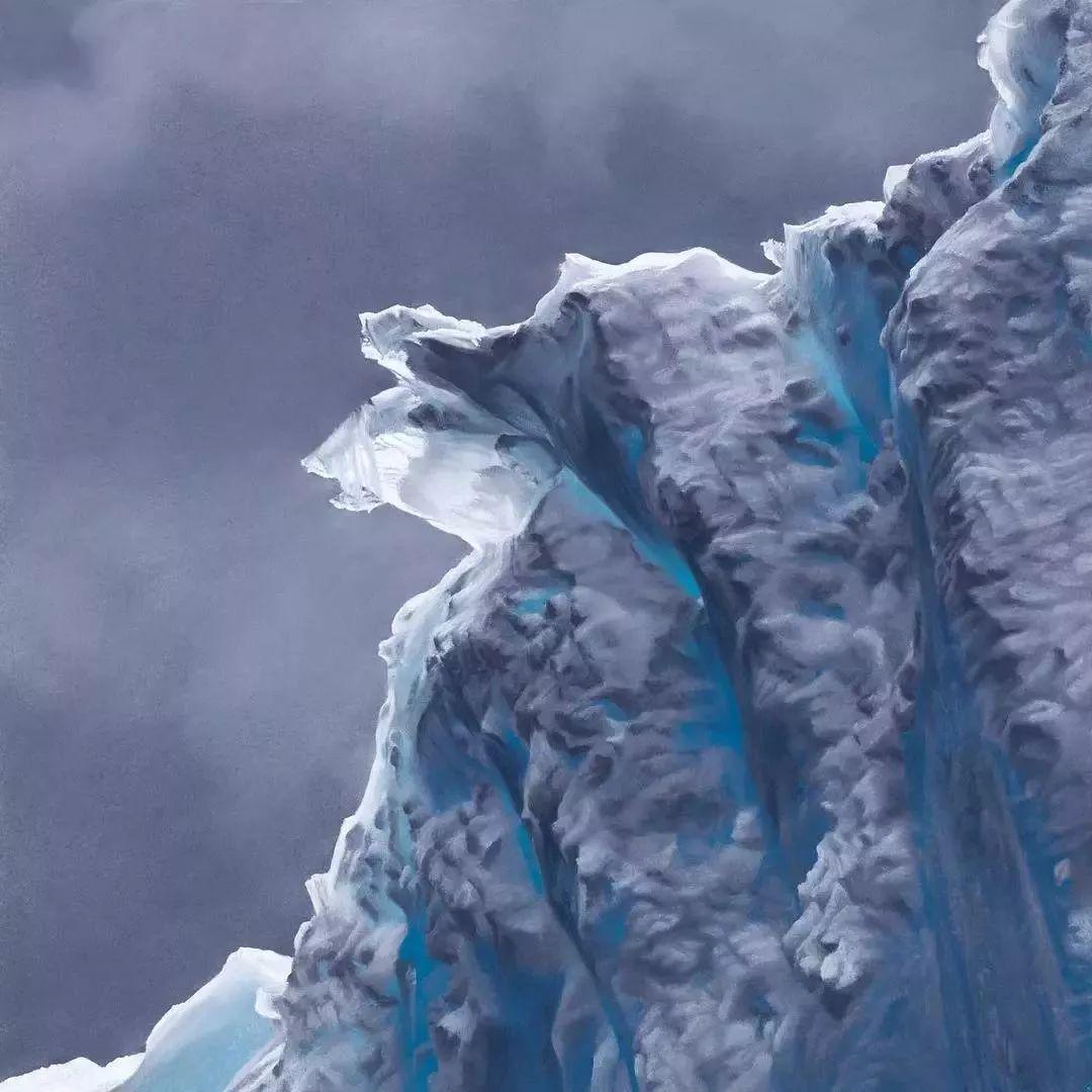 俘获了上千万粉丝的心 她用手指画出震撼的冰山插图89