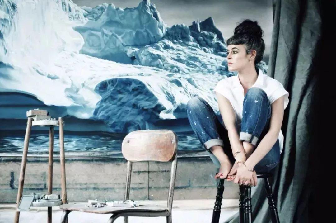 俘获了上千万粉丝的心 她用手指画出震撼的冰山插图91