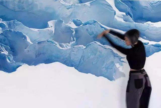 俘获了上千万粉丝的心 她用手指画出震撼的冰山插图93