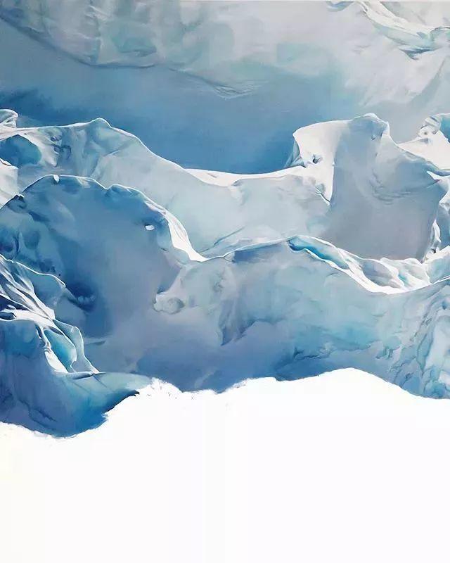 俘获了上千万粉丝的心 她用手指画出震撼的冰山插图95