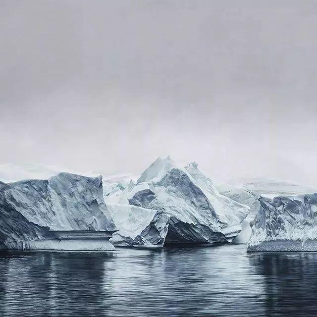 俘获了上千万粉丝的心 她用手指画出震撼的冰山插图99