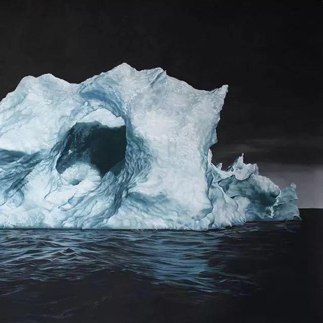 俘获了上千万粉丝的心 她用手指画出震撼的冰山插图111