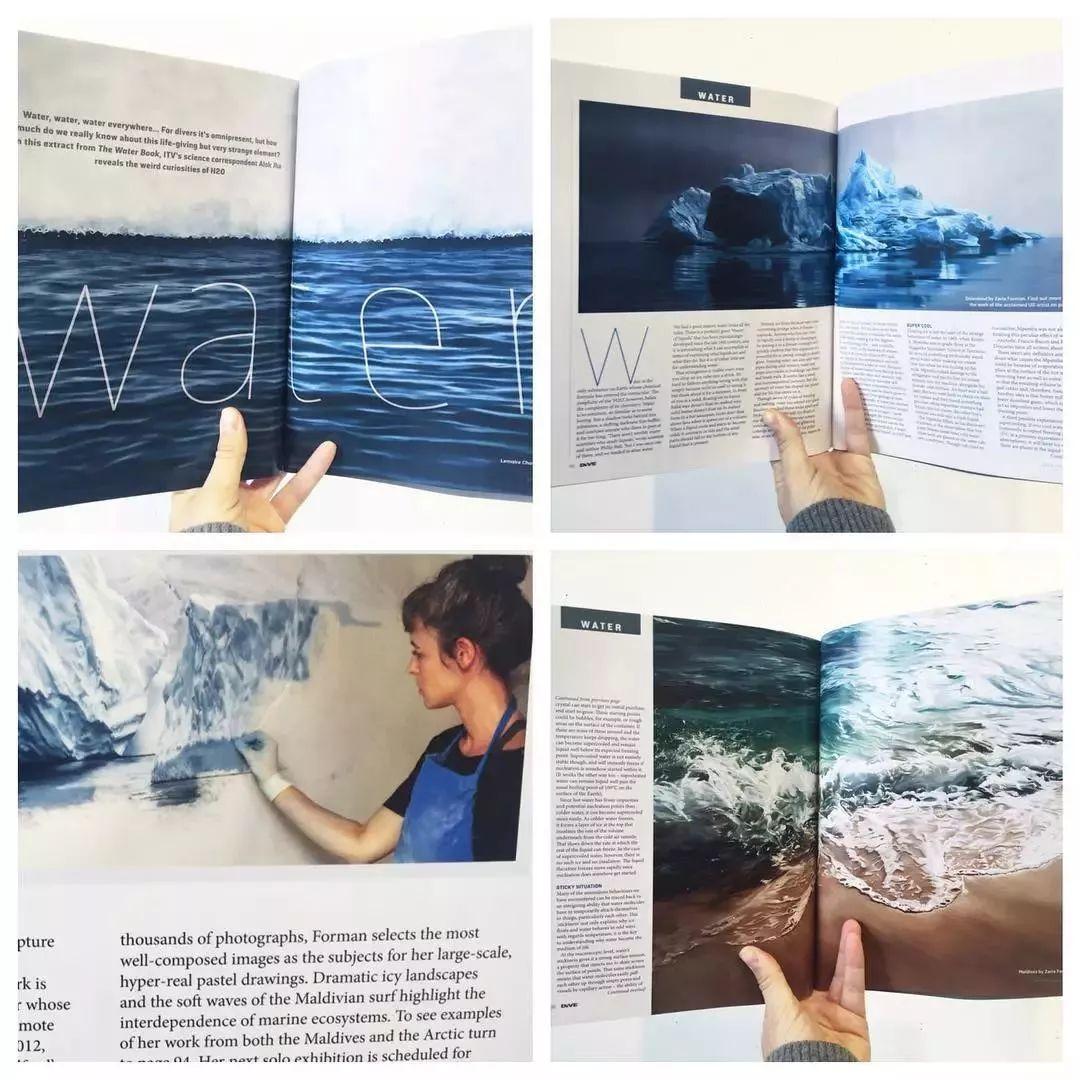 俘获了上千万粉丝的心 她用手指画出震撼的冰山插图115