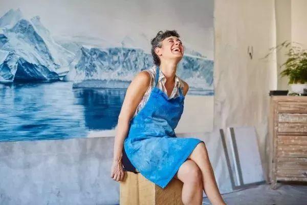 俘获了上千万粉丝的心 她用手指画出震撼的冰山插图123