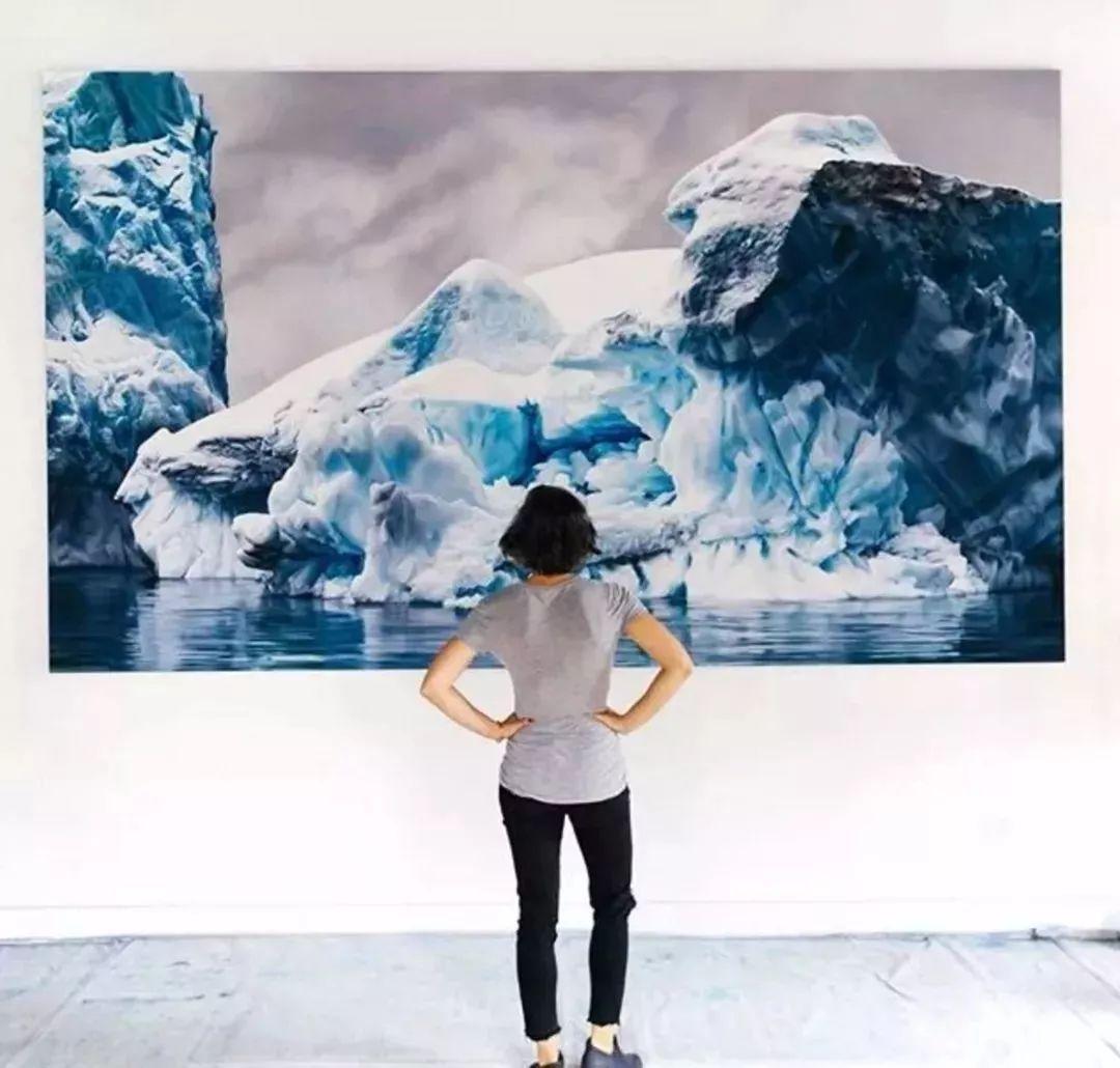俘获了上千万粉丝的心 她用手指画出震撼的冰山插图125