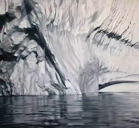 俘获了上千万粉丝的心 她用手指画出震撼的冰山插图129