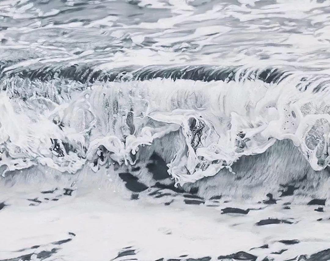 俘获了上千万粉丝的心 她用手指画出震撼的冰山插图143