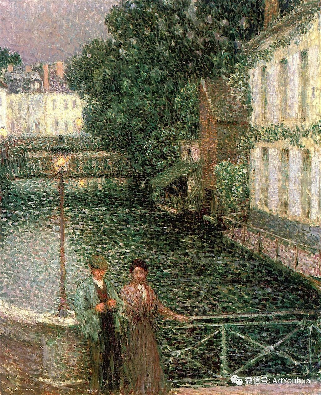 他以印象派手法描绘安静街角和花园而闻名插图24