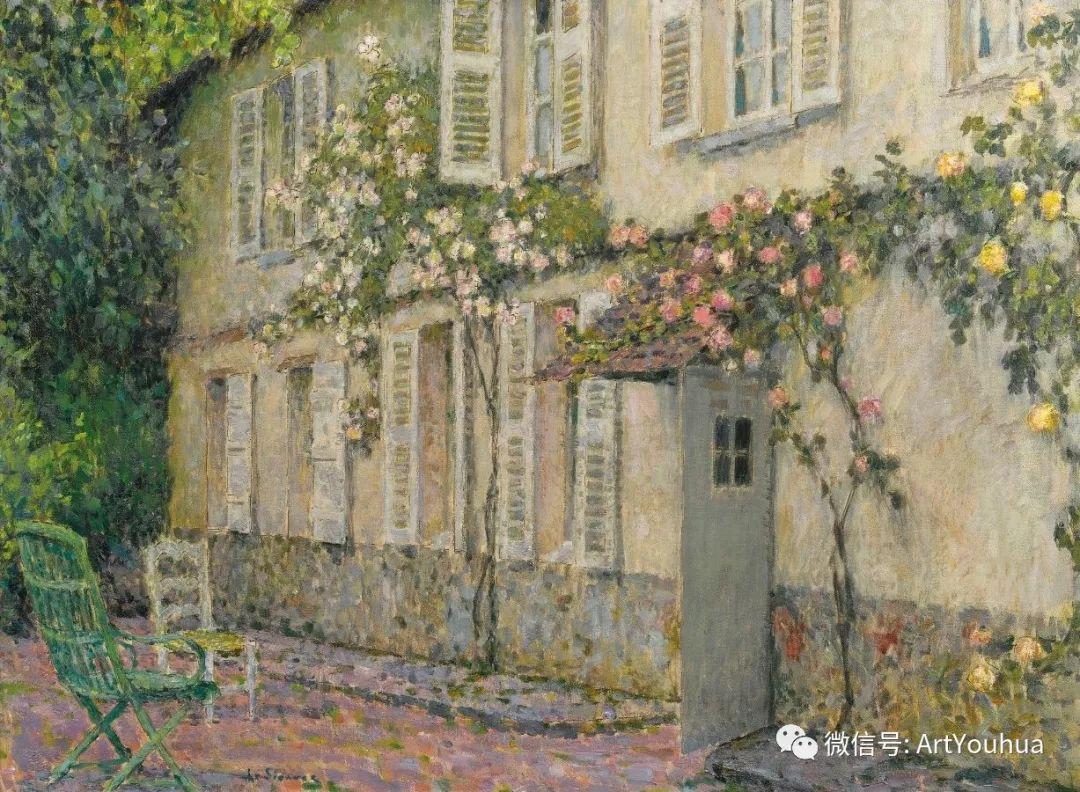 他以印象派手法描绘安静街角和花园而闻名插图28