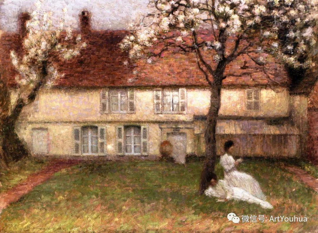 他以印象派手法描绘安静街角和花园而闻名插图29