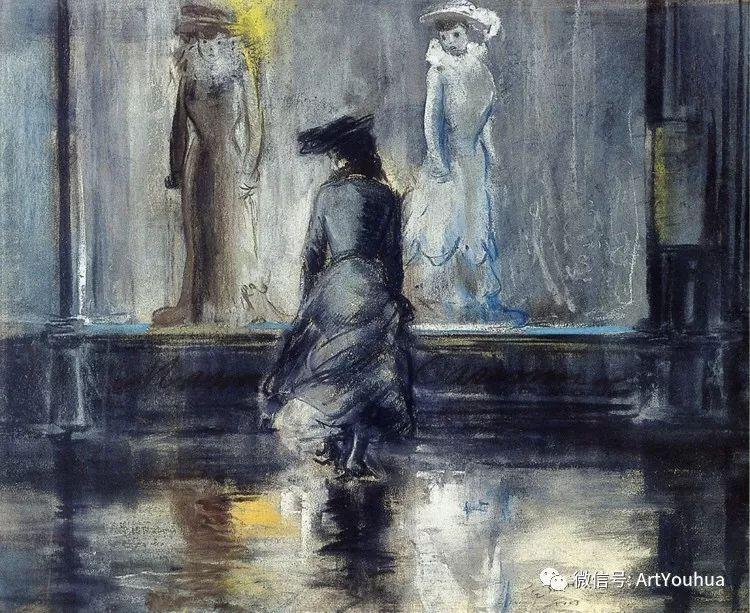 八人画派 美国画家Everett Shinn作品欣赏插图2