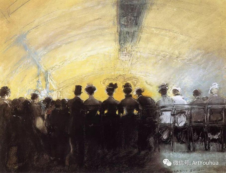 八人画派 美国画家Everett Shinn作品欣赏插图4