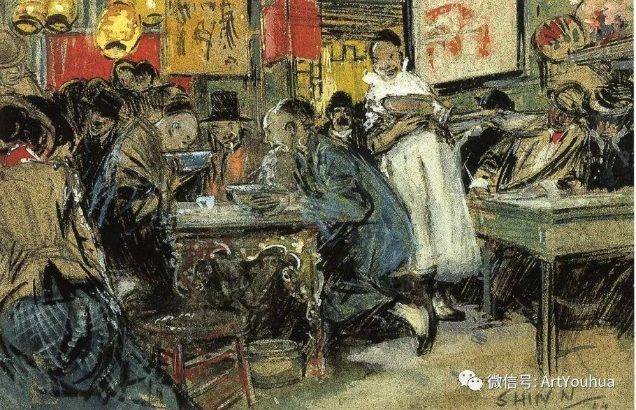 八人画派 美国画家Everett Shinn作品欣赏插图6