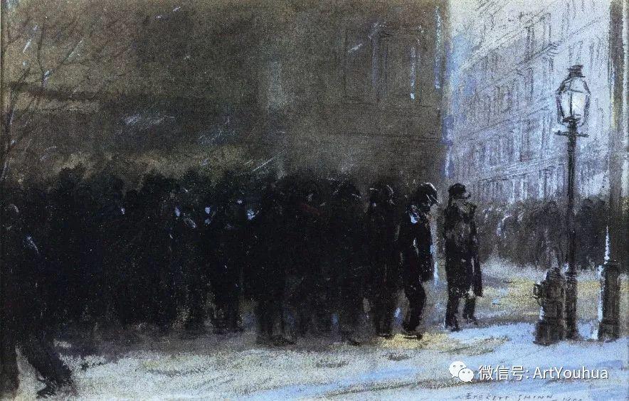 八人画派 美国画家Everett Shinn作品欣赏插图8