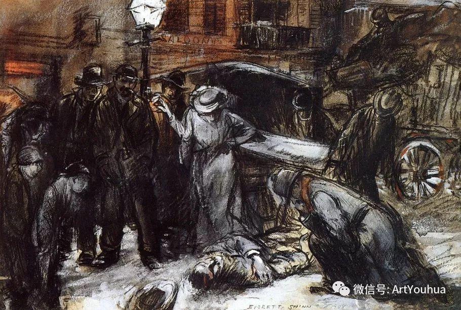 八人画派 美国画家Everett Shinn作品欣赏插图15