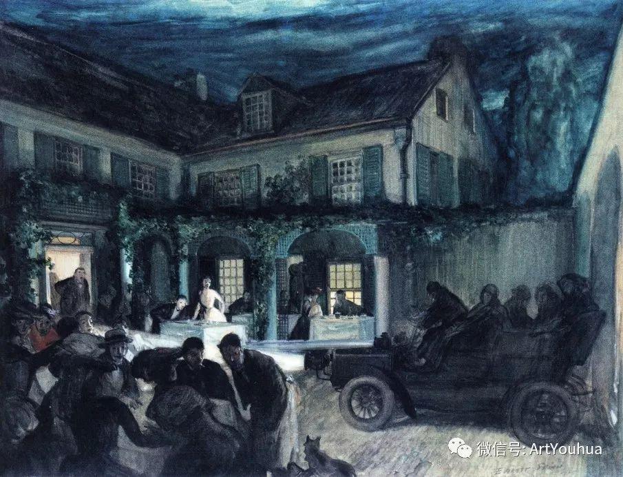 八人画派 美国画家Everett Shinn作品欣赏插图17