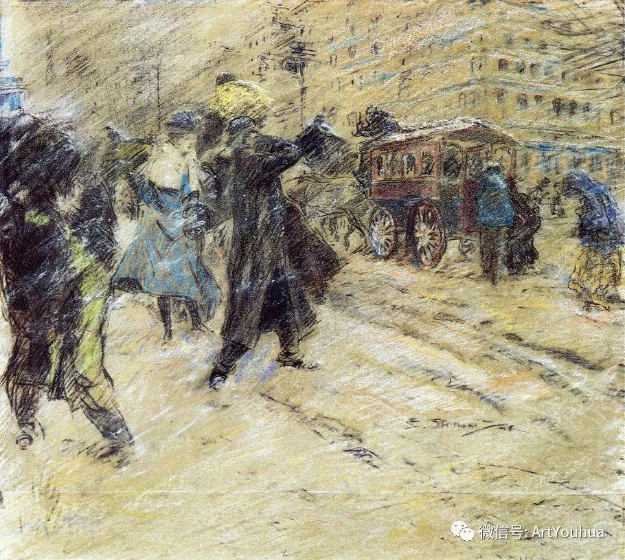 八人画派 美国画家Everett Shinn作品欣赏插图18