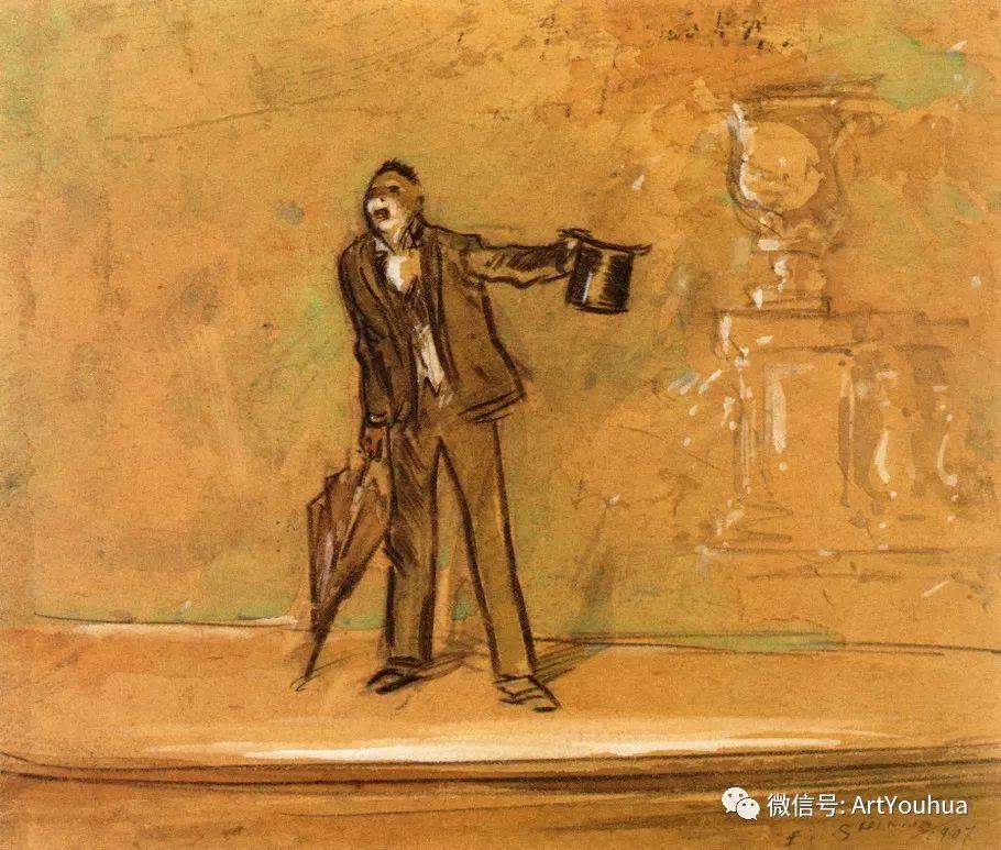 八人画派 美国画家Everett Shinn作品欣赏插图19