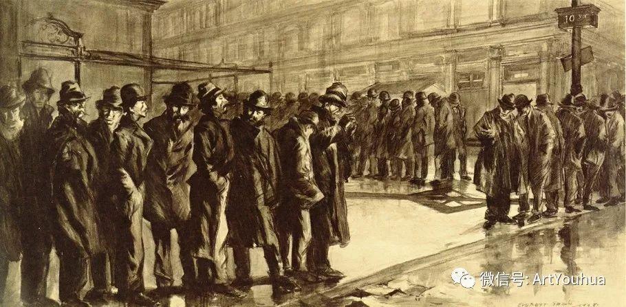 八人画派 美国画家Everett Shinn作品欣赏插图20