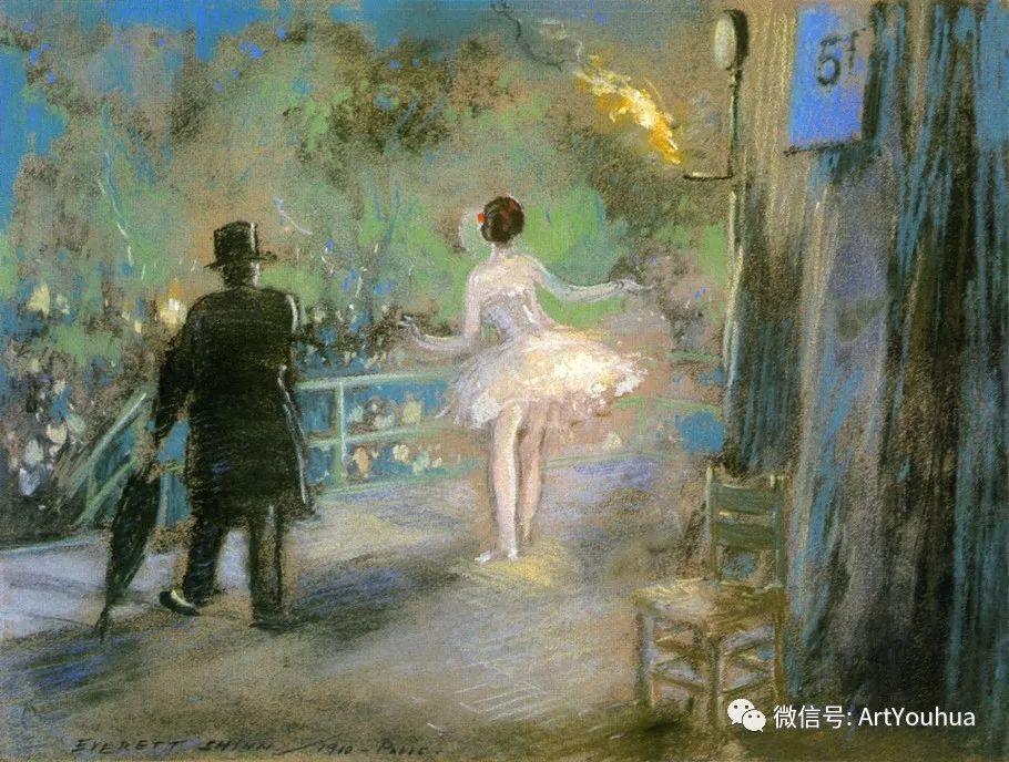 八人画派 美国画家Everett Shinn作品欣赏插图21