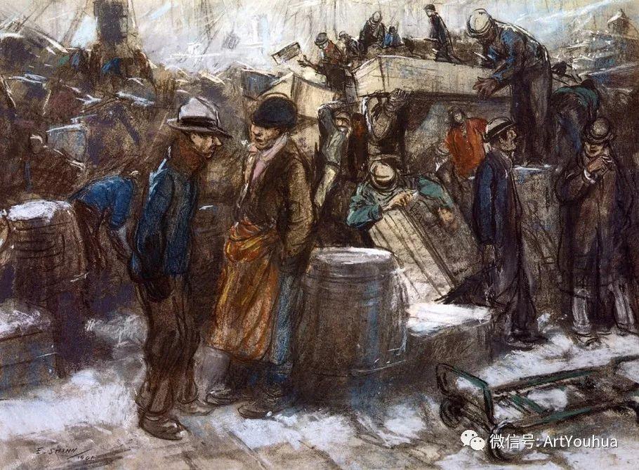 八人画派 美国画家Everett Shinn作品欣赏插图25